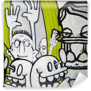 Vinylová Fototapeta Graffiti - Helmi šílenci