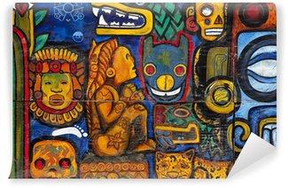 Vinylová Fototapeta Graffiti na zdi v Mexico City