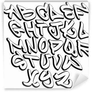 Vinylová Fototapeta Graffiti písmena abecedy písma. Hip hop typ konstrukce graffiti