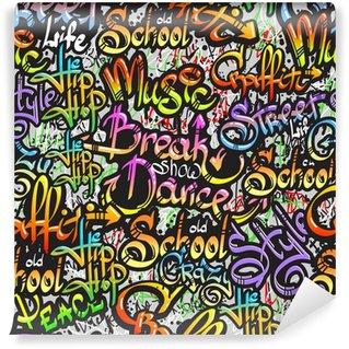 Vinylová Fototapeta Graffiti slovo bezešvé vzor