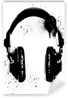 Fototapeta Winylowa Graffiti słuchawki