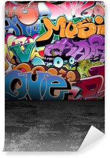 Vinylová Fototapeta Graffiti stěna městské street art painting