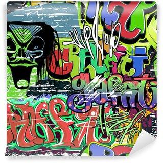Vinylová Fototapeta Graffiti stěna vektorové bezešvé