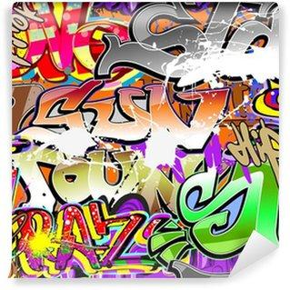 Vinylová Fototapeta Graffiti urban art bezešvé pozadí