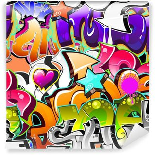 Fototapeta Winylowa Graffiti Urban Art tle. powtarzalne projekt