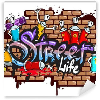Fototapeta Winylowa Graffiti znaki słowne skład