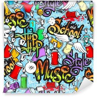 Vinylová Fototapeta Graffiti znaky bezešvé vzor