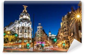 Vinylová Fototapeta Gran Via v Madridu, Španělsko, Evropa.