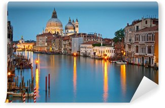 Vinylová Fototapeta Grand Canal a Bazilika za soumraku, Benátky, Itálie.