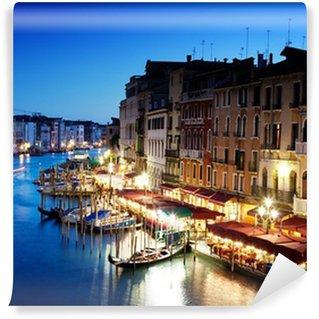 Vinylová Fototapeta Grand Canal v Benátkách, Itálie při západu slunce