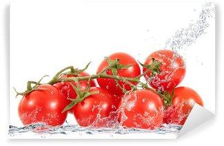 Vinylová Fototapeta Grappolo di pomodori stříkající