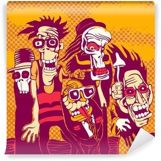 Fototapeta Winylowa Grunge background z halloween osoba, na okładkę płyty