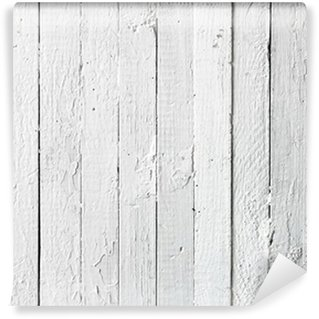Vinylová Fototapeta Grunge bílá malovaný dřevěný prkně
