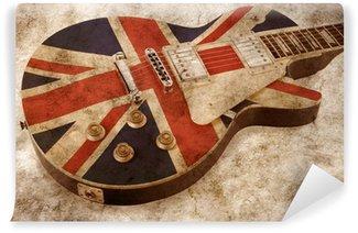 Vinylová Fototapeta Grunge brit pop kytara
