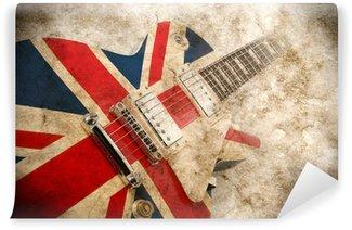 Vinylová Fototapeta Grunge britská pop kytara