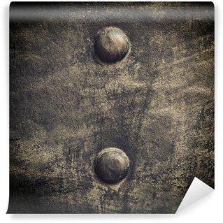 Vinylová Fototapeta Grunge černý plech s nýty šrouby pozadí textury