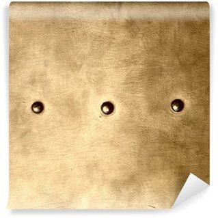 Vinylová Fototapeta Grunge gold brown metal plate nýty šrouby pozadí textury