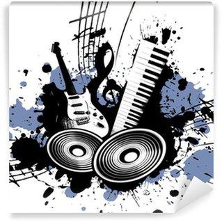 Vinylová Fototapeta Grunge Music