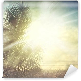 Vinylová Fototapeta Grunge palm-9