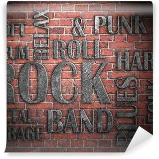 Vinylová Fototapeta Grunge rocková hudba plakát