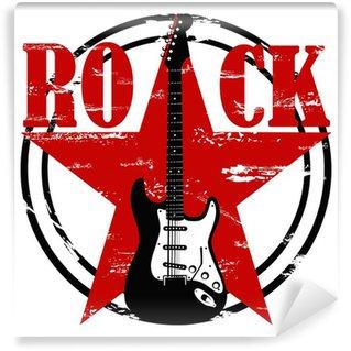 Vinylová Fototapeta Grunge rocková tapety na bílém pozadí