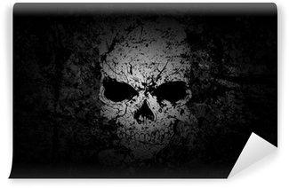 Vinylová Fototapeta Grunge Skull tmavém pozadí