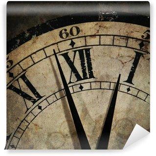 Vinylová Fototapeta Grunge staré hodiny ukazující čas je po půlnoci