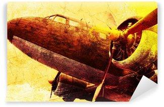 Fototapeta Winylowa Grunge starych samolotów wojskowych, tło