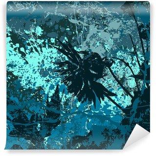 Vinylová Fototapeta Grunge vektor pozadí v modré barvě
