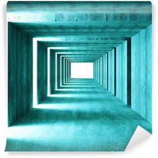 Fototapeta Winylowa Grzywny obrazu 3D tunelu tle streszczenie concretet