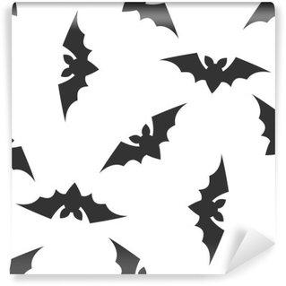 Vinylová Fototapeta Halloween bezešvé vzor