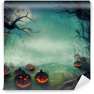 Vinylová Fototapeta Halloween design - Forest dýně