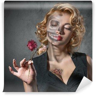Vinylová Fototapeta Halloween kostým - portrét mrtvého herečky