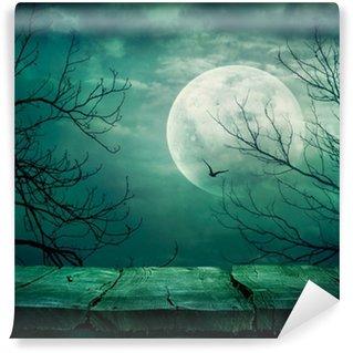 Vinylová Fototapeta Halloween pozadí s tabulkou