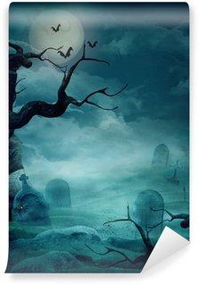 Vinylová Fototapeta Halloween pozadí - Spooky hřbitov