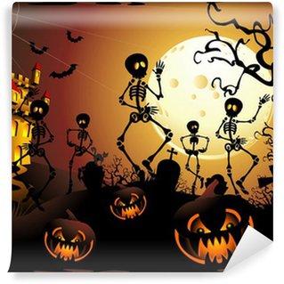 Vinylová Fototapeta Halloween Scheletri e Castello-Halloween kostra a Hrad