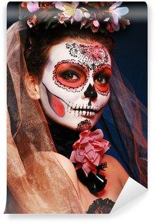 Vinylová Fototapeta Halloween tvoří cukr lebky