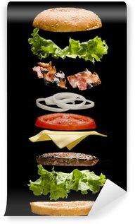 Vinylová Fototapeta Hamburger deconstructed