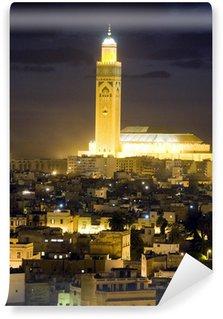 Vinylová Fototapeta Hassan II mešita noční scénu v Casablanca Maroko Africe