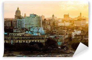 Fototapeta Vinylowa Hawana (Habana) w zachodzie słońca, Kuba