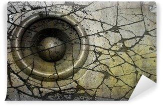 Vinylová Fototapeta HD 3D vykreslování grunge starý zvukový systém reproduktorů deejay DJ