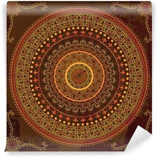 Vinylová Fototapeta Henna mandala design - Velmi detailní a snadno upravitelné