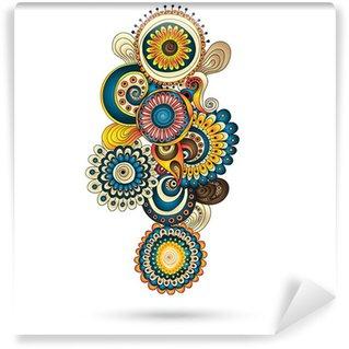 Vinylová Fototapeta Henna Mehndi Paisley Doodles konstrukční prvek.