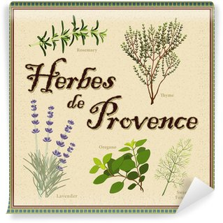 Vinylová Fototapeta Herbes de Provence: levandule, rozmarýn, tymián, fenykl, oregano