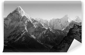 Vinylová Fototapeta Himalaya hory černá a bílá