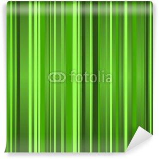 Vinylová Fototapeta Hinterrund Streifen grün II