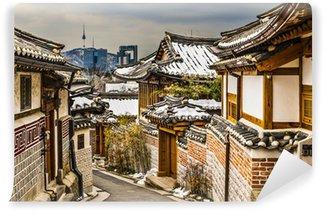 Vinylová Fototapeta Historické čtvrti Soulu