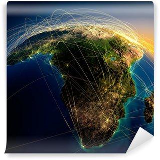Vinylová Fototapeta Hlavní letecké trasy v Africe a na Madagaskaru