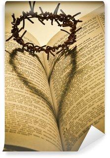 Vinylová Fototapeta Holy Bible a Trnová koruna