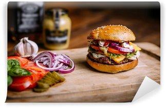 Fototapeta Winylowa Homemade burger